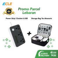 ECLE Paket Parsel Lebaran Power Strip Charger + Storage Gadget Bag