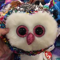 Ty Owl Rainbow Sequin Sling Bag Original Ty