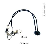 MUSHA Strap Mask - Simple Basic | Strap / Tali Masker - black, stopper compo