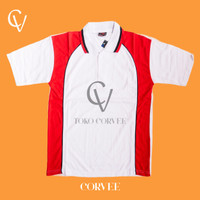 Kaos Kerah Lengan Pendek (Putih) Kaos Polo/Kaos Senam/Kaos Olahraga