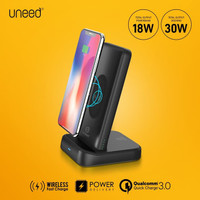 UNEED Wireless Fast Charge Powerbank 10000mah QC + PD with Docking