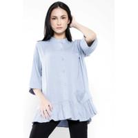 Gaudi Atasan Kemeja Wanita Isabella Shirt Blue Grey