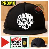 Topi Snapback REGGAE IS MY SOUL Bonus Reggae Coffee