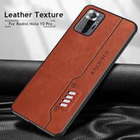 Case Xiaomi Redmi Note 10 pro Hard case kulit PU back cover original