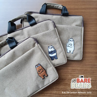 We Bare Bears softcase Laptop Bag / Tas laptop We Bare Bears