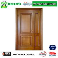 KPD37 - Set kusen pintu utama kusen depan kayu mahoni
