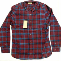 BRAND NEW BURBERRY ALEXANDER Longsleeve Shirt Red Maroon AUTHENTIC!