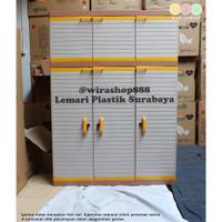 Lemari Plastik Club Mega Gantung 3 Pintu