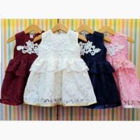 Dress Anak Bayi Perempuan Baju Pesta Kondangan Brokat Renda Tumpuk