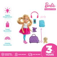 Barbie Travel Chelsea Doll and Accessories-Mainan Boneka dan Aksesoris