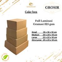 DUS KUE BOLU / BOX CAKE / ROTI / KOTAK KUE LAPIS TEBAL 22X22X10 CM