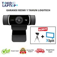 Logitech Webcam C922 HD PRO STREAM RESMI DAN BERGARANSI 100% - FREE TRIPOD