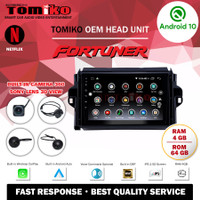 Head Unit Android TOMIKO OEM for Fortuner with Camera 360 Sony Lens
