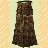 Batik Solo baju santai / daster / long dress tanpa lengan
