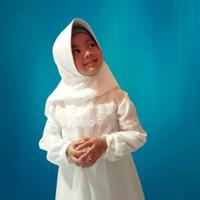 ZOYA MAXI KIDS/gamis anak terbaru/Baju muslim anak free bergo 4 - 10th - Putih, XS
