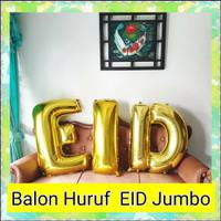 Balon IED 100cm Set Balon Huruf Foil Jumbo Happy Eid Mubarak Lebaran