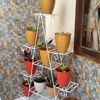 standing pot besi susun/rak pot bunga