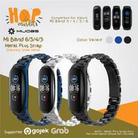 MIJOBS MiBand 6 METAL PLUS Stainless Steel Strap Xiaomi Mi Band 5 4 3
