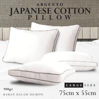 Bantal Tidur Hotel Silikon GRADE A Bantal Kepala Katun Jepang Argento