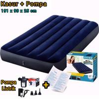 Kasur Angin Intex Durabeam Single Airbed Portable 191cm x 99cm x 25cm