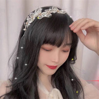 Bando kupu korea wanita anak aksesoris rambut cantik lucu bandana