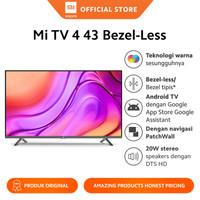 """Xiaomi Official Mi TV 4 43"""" Bezel-Less LED Smart TV Android TV"""