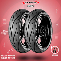 Paket Ban Tubeless Motor MOGE ZENEOS ZN62 120/70 - 160/60 Ring 17