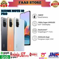 Xiaomi redmi note 10 pro 8/128 NFC [120Hz Amoled]Garansi Resmi