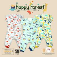 LIBBY Setelan Piyama Newborn Baju Lengan Panjang Bayi New Born 0-3bln