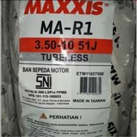 Maxxis 350 - 10 MA-R1 51J TL Tubless Ban Luar Vespa Soft compound
