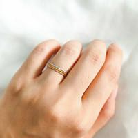 cincin stack minimalis 3in1 elegant emas asli