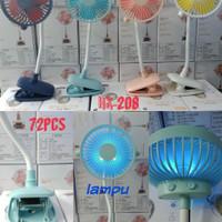 Kipas Angin Jepit LED Portable Fan Mini Jepit Clip Fan Rechargeable