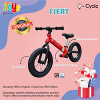 Sepeda Balance Bike (Push Bike) i-Cycle PH-1906 (FIERY) - Merah