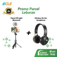 ECLE Paket Parsel Lebaran Wireless On Ear Headphone + Tripod HP light