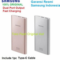 Samsung Powerbank 10000 mAh Dual USB With Cable type C Fast grs TAM