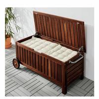 Bangku Box Kayu Penyimpanan Beroda Indoor/Outdoor Serbaguna IKEAImport