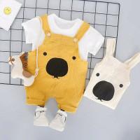 set setelan baju overall kodok lucu anak bayi laki laki perempuan
