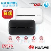 Modem Mifi Huawei E5576 Wifi 4G LTE Free Telkomsel 14GB GARANSI RESMI
