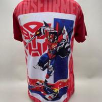 Kaos Anak Laki-laki Optimus Prime Merah - S
