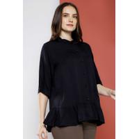 Gaudi Atasan Kemeja Wanita Isabella Shirt Black