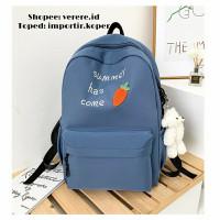 Joshee Tas Ransel wanita backpack wanita backpack pria X1049 - Blue, Summer