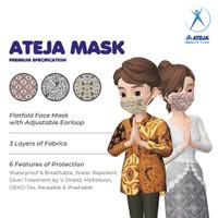 Masker Ateja Mask Batik Kain Non Medis 3 Lapis Adjustable Earloop SNI