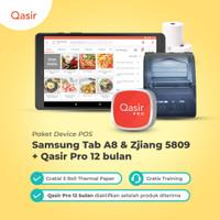 Mesin Kasir Tablet+Printer bluetooth+Qasir Pro /Tab A8/Printer Zjiang