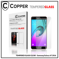 Samsung A7 2016 - COPPER TEMPERED GLASS FULL CLEAR