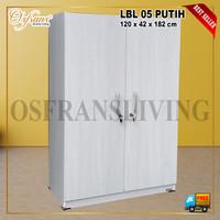Lemari Pakaian 2 Pintu LBL 05 Harga Pabrik - Putih