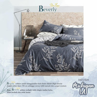Set Bedcover Sprei Katun Motif Michigan ukuran 180x200 160x200