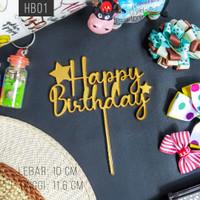 Cake Topper/Tusukan Kue [BASIC] - Happy Birthday/Selamat Ulang Tahun - HB01