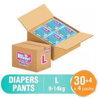 Baby Happy Pants L 30+4 - Box isi 4 - Popok Celana Sekali Pakai