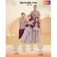 New Sarimbit Family Nibras IRIS Marun Baju Muslim Couple Keluarga