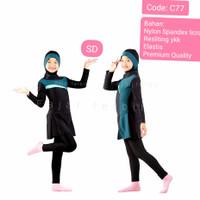 7-12th baju renang anak muslimah tanggung baju reanag anak SD baju hij